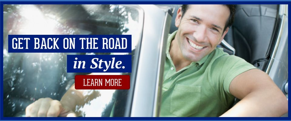 get back on the road in style. Learn more. man in car