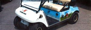 Angry Birds theme golf cart